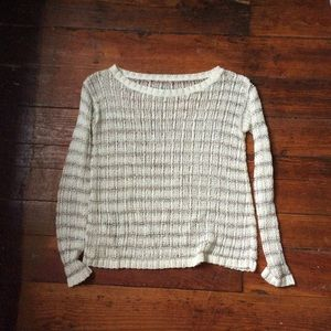 Alice and Olivia white and silver mesh sweater XS